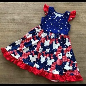 Other - Red white & blue Disney Americana twirl dress